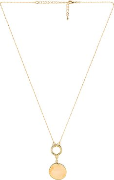 Rylie Necklace in Metallic Gold.