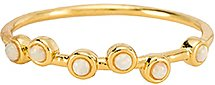 Serena Ring in Metallic Gold. - size 6 (also in 7)
