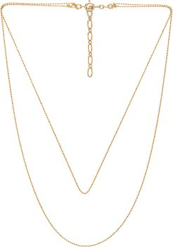 Camille Necklace in Metallic Gold.