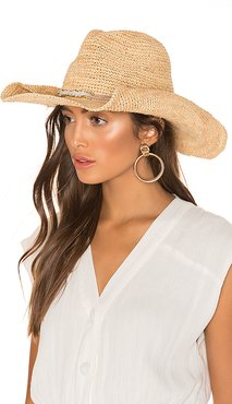 Zahara Hat in Tan.