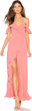 Monica Maxi Dress in Coral. - size S (also in XS,M,L)