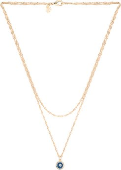 I Got Your Back Prelayer Necklace in Metallic Gold.
