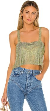 x REVOLVE After Party Tank in Metallic Gold.