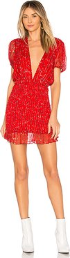 Baby Love Smocked Bodycon in Red. - size S (also in L)