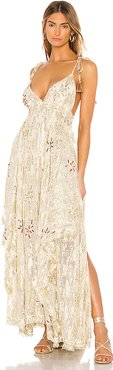 Meredith Maxi Dress in Metallic Gold. - size M (also in S,L)