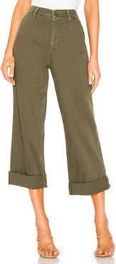 On My Mind Wide Leg Pant in Olive. - size 26 (also in 24)