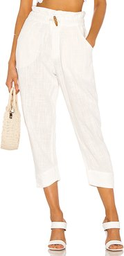 Paradise Pant in Ivory. - size L (also in M)