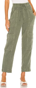 Feelin Good Utility Pull Pant in Olive. - size S (also in XS,M,L)