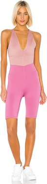 X FP Movement Total Triumph One Piece in Pink. - size L (also in S,XS)