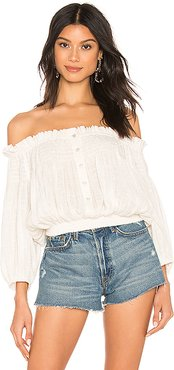 Dancing Till Dawn Top in White. - size M (also in S)