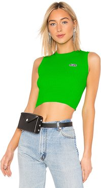 Fluorescent Logo Top in Green. - size S (also in M)