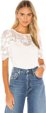 Gabriella Puff Top in White. - size M (also in XS,S,L)