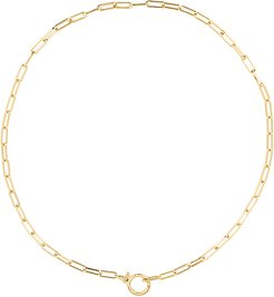 Parker Necklace in Metallic Gold.