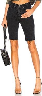 Beverly High Rise Long Biker Short in Black. - size 31 (also in 29)
