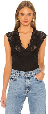 Off The Hook Bodysuit in Black. - size XS (also in S,M,L)