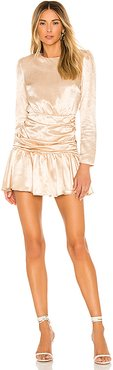 x REVOLVE Sheena Dress in Taupe. - size L (also in S,XS,M,XL)