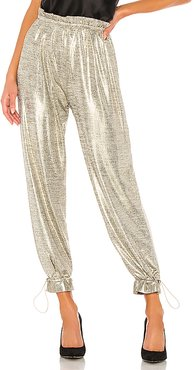 x REVOLVE Tamar Pant in Metallic Silver. - size XL (also in XS,S,M,L)
