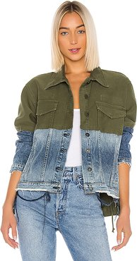 Twill Denim Jacket Combo. - size L (also in M,S,XS)