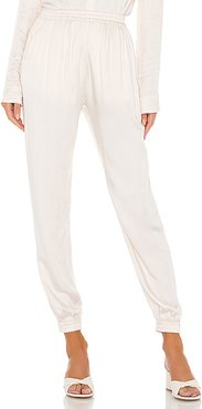 Pierre Easywear Lounge Pant in Ivory. - size S (also in M,L)