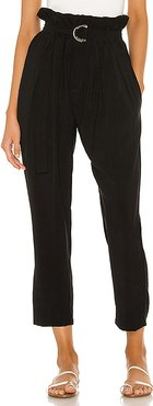 Shadow Zip Front Trouser in Black. - size M (also in XS,S,L)