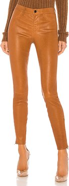 L8001 Leather Mid Rise Skinny Pant in Brown. - size 24 (also in 25,28,29)