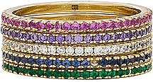 CZ Eternity Band in Metallic Gold. - size 6 (also in 7)