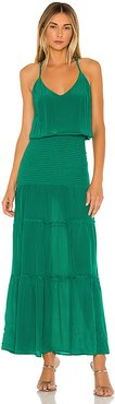 Karina Solid Maxi Dress in Green. - size M (also in XS)
