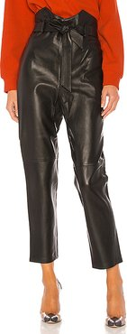 Delaney Leather Pants in Black. - size L (also in M,XL,XS)
