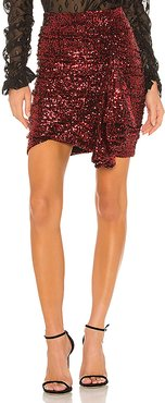 lORANE Sequin Mini Skirt in Red. - size L (also in XS,S,M)