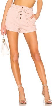 Meghan Sweat Shorts in Blush. - size L (also in XS,S,XL)
