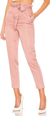 Tristan Crop Pant in Pink. - size L (also in M,S,XL,XS)