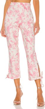 Brexley Pant in Ivory,Pink. - size S (also in L,M,XL,XS,XXS)