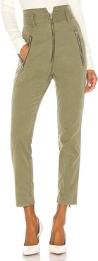 Josh Canvas Pant in Olive. - size 0 (also in 4)