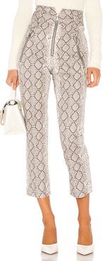 Josh Print Canvas Pant in Gray. - size 6 (also in 0,4,8)