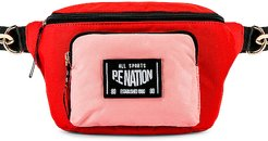 Sonic Boom Bumbag in Red.