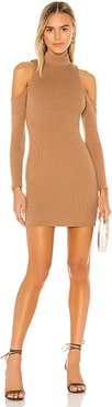 Lorraine Mini Dress in Tan. - size S (also in XXS,XS,M,L,XL)
