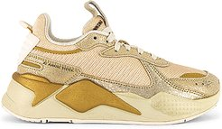 RS-X Winter Glimmer Sneaker in Metallic Gold. - size 8 (also in 10,5.5,6,6.5,7,7.5,8.5,9,9.5)