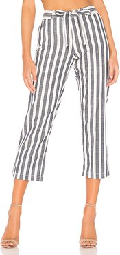 Sasha Stripe Crop Pant in Blue. - size 29 (also in 25,26,28,30)