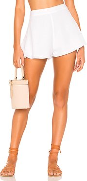 Cory Flutter Shorts in White. - size S (also in XXS,XS,M,L,XL)