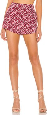 Debbie High Waisted Short in Red. - size XS (also in XXS,S,M)