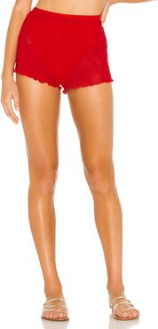 Sirena Mesh Short in Red. - size L (also in XXS,XS,S,M)