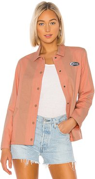 Etta Striped Coach Jacket in Pink. - size XS (also in M)