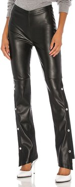 Stretch Washable Faux Leather Pants in Black. - size 8 (also in 0,2,4)
