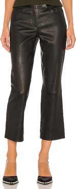 Leather Bristol Crop Pant in Black. - size 6 (also in 8)