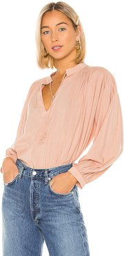 Colette Long Sleeve Bohemian Blouse in Pink. - size XS (also in S)