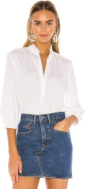 Sara Henley Blouse in White. - size S (also in XS,M,L)