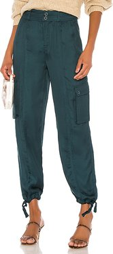 Dalary Cargo Pant in Teal. - size L (also in XXS,XS,S,M)
