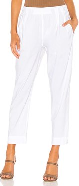 Tapered Pull On Pant in White. - size L (also in S,XS)