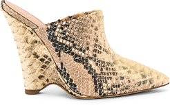SEASON 8 Python Wedge Mule Pump in Brown. - size 36 (also in 36.5,37,37.5)