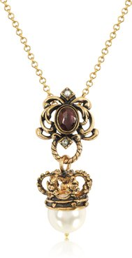 Designer Necklaces, Crown and Pearl Necklace